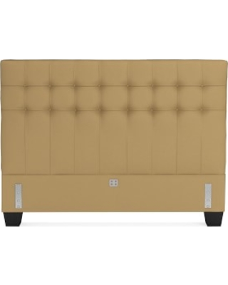 Fairfax Low Headboard Only, Queen, Faux Suede, Camel