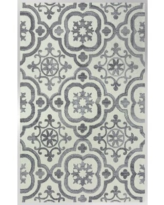 Deals For Geometric Handmade Tufted Ivory Gray Area Rug Canora Grey Rug Size Rectangle 7 6 X 9 6