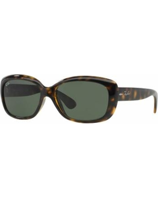 Ray-Ban Jackie Ohh RB4101 58mm Rectangle Sunglasses, Dark Grey