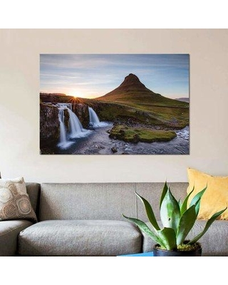 """East Urban Home 'Iconic Kirkjufell Iceland I' By Matteo Colombo Graphic Art Print on Wrapped Canvas ETRC6717 Size: 26"""" H x 40"""" W x 0.75"""" D"""