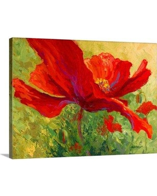 """Great Big Canvas Red Poppy I by Marion Rose Painting Print on Wrapped Canvas 1156475_ Size: 12"""" H x 16"""" W x 1.5"""" D"""