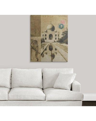 "Great Big Canvas 'Voyage to India' Graphic Art Print 1050924_1 Size: 36"" H x 29"" W x 1.5"" D Format: Canvas"