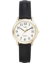 Women's Timex Easy Reader Watch with Leather Strap- Gold/Black T2H341JT