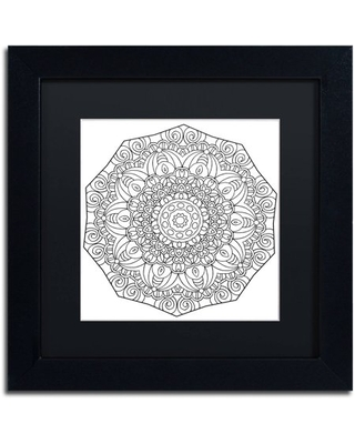 "Trademark Fine Art ""Mixed Coloring Book 11"" Canvas Art by Kathy G. Ahrens, Black Matte, Black Frame"