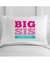 4 Wooden Shoes Personalized Big Sister Toddler Pillow Case WF-12-116