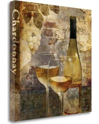 """Tangletown Fine Art 'Chardonnay' Graphic Art Print on Wrapped Canvas CA312885-2020c Size: 30"""" H x 30"""" W"""