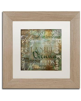 """Trademark Fine Art 'Cities of the World IV' by Color Bakery Framed Textual Art ALI4119-T1 Size: 11"""" H x 11"""" W x 0.5"""" D Mat Color: White"""
