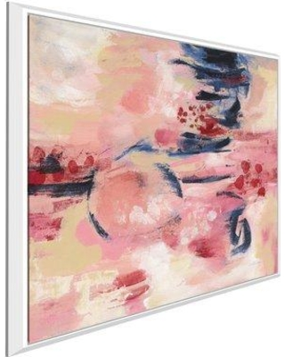 """Ebern Designs 'Sakura II' Acrylic Painting Print on Canvas BF137542 Size: 36"""" H x 36"""" W x 1.5"""" D Format: Floater Frame"""