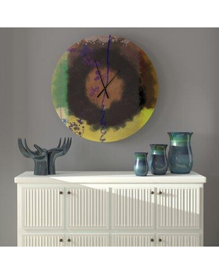 East Urban Home Timeless Jocoserious Peacock Abstract Metal Wall Clock W002427480 Size: Large