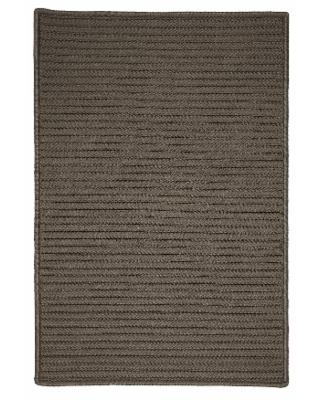 Simple Home Solid Rug, Size 2'W x 3'L in Gray by Colonial Mills