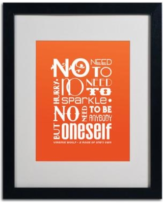"""Trademark Art """"No Need to Sparkle I"""" by Megan Romo Framed Textual Art MR0091 Frame Color: Black Size: 20"""" H x 16"""" W x 0.5"""" D"""