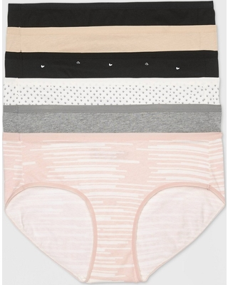 0b342e68e8e3 Amazing Deal on Women's Cotton Hipster 6pk - Auden Assorted L, Black
