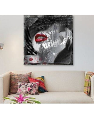 "East Urban Home 'Waiting' Graphic Art Print on Canvas ERBR0753 Size: 18"" H x 18"" W x 0.75"" D"