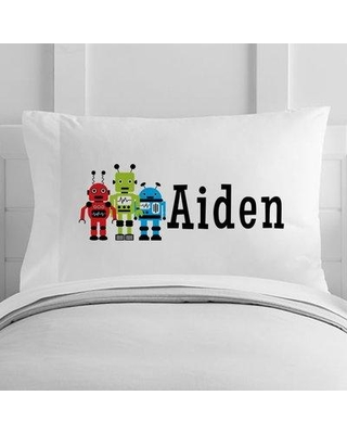 4 Wooden Shoes Personalized Robots Toddler Pillowcase WF-12-133