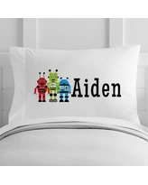 4 Wooden Shoes Personalized Robots Toddler Pillow Case WF-12-133