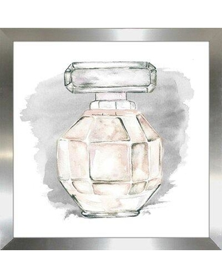 """House of Hampton 'Perfume Bottle with Watercolor II' Watercolor Painting Print BI163819 Size: 30"""" H x 30"""" W x 0.75"""" D Format: Picture Frame"""