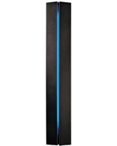 Gallery Collection Blue Glass Energy Efficient Wall Sconce