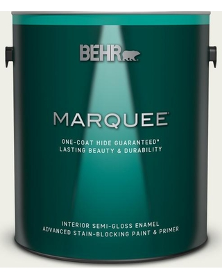 BEHR MARQUEE 1 gal. #PPU10-13 Snowy Pine Semi-Gloss Enamel Interior Paint and Primer in One
