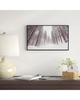 "'Winter Scenery in Trentino Alto Adige' Photographic Print on Wrapped Canvas East Urban Home Size: 14"" H x 22"" W x 1"" D"
