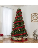 The Holiday Aisle® Spruce Artificial Christmas Tree in Green, Size 108.0 H x 59.0 W in | Wayfair SKY4211