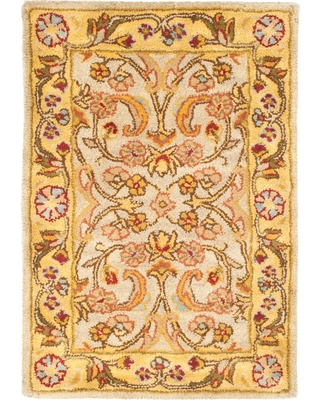 Gray/Light Gold Floral Tufted Accent Rug 2'X3' - Safavieh