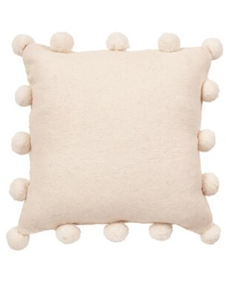 Toppenish Christmas Square Throw Pillow Cover The Holiday Aisle® Color: Cream