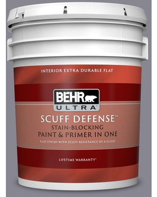 BEHR ULTRA 5 gal. #N550-5 Box Office Extra Durable Flat Interior Paint & Primer