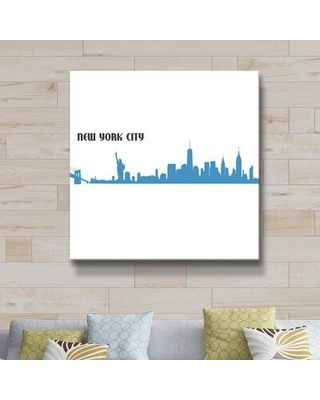 "East Urban Home 'New York City Skyline Scissor Q' Graphic Art Print on Wrapped Canvas CG155407 Format: Wrapped Canvas Size: 10"" H x 10"" W x 2"" D"