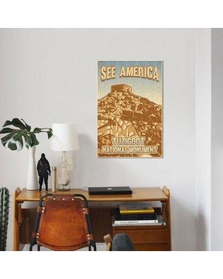 """East Urban Home 'Tuzigoot National Monument by Roberlan Borges' Graphic Art Print on Canvas UBAH5135 Size: 12"""" H x 8"""" W x 0.75"""" D"""