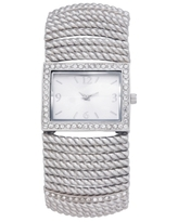 Charter Club Women's Stretch Silver-Tone Bracelet Watch 42mm, Created for Macy's