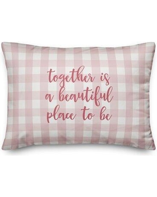 Ebern Designs Smith I Love You More Than Tacos Throw Pillow W001478171 Color: Pink