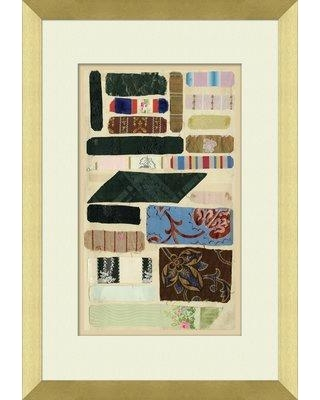 Ebern Designs 'Fabric Swatches' Framed Graphic Art Print BF158501