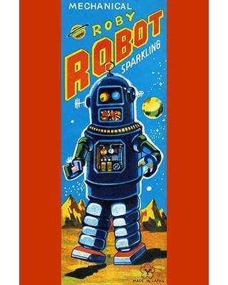 """Buyenlarge 'Roby Robot' Vintage Advertisement 0-587-24948-x Size: 66"""" H x 44"""" W"""