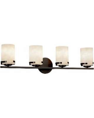 Justice Design Group Clouds 31 Inch 4 Light Bath Vanity Light - CLD-8454-10-DBRZ