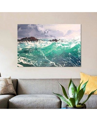 "East Urban Home 'North Westerly XI' Graphic Art Print on Canvas ESUH5571 Size: 12"" H x 18"" W x 1.5"" D"