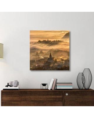 """East Urban Home 'Misty Morning' Photographic Print On Wrapped Canvas ERNH2240 Size: 36"""" H x 36"""" W x 1.5"""" D"""