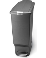 simplehuman Plastic 10.6 Gallon Step On Trash Can CW136 - X Color: Grey