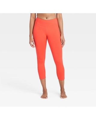 """Women's Simplicity Mid-Rise Capri Leggings 20"""" - All in Motion Coral M, Pink"""