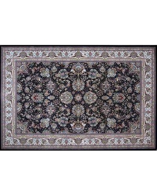 Spectacular Deals On Astoria Grand Martino Hand Look Persian Wool Blue Ivory Brown Area Rug X112185460