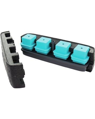 """Tovolo Tovolo Ice Cube Tray, Plastic/Acrylic in Black, Size 4""""H X 4""""W X 15""""D 