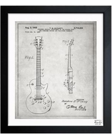 "Oliver Gal Gibson Les Paul Guitar 1955 Framed Graphic Art 1B00188_15x18/1B00188_26x32 Size: 19.5"" H x 16.5"" W x 0.5"" D"