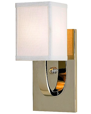 Currey & Company Sadler Wall Sconce - Color: White - Size: 1 light