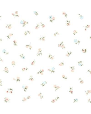 """Accentuations by Manhattan Comfort Milford 32.7' x 20.5"""" Floral Spot Roll Wallpaper NWAB27650 / NWAB27651 Color: Baby Blue/Red/Green/Beige/White"""