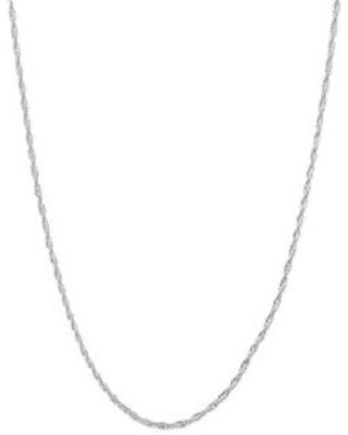 Belk Silverworks Silver Silver-Tone Twisted Chain Necklace