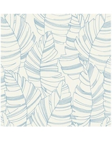 "Bay Isle Home Felicia Kids Jungle Leaves 33' L x 20.5"" W Wallpaper Roll X112735739 Color: Carolina Blue"