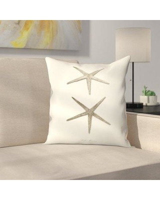 """East Urban Home Greige Star Fish Throw Pillow ETHF3302 Size: 16"""" x 16"""""""
