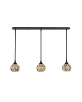 Deals For Verduzco 3 Light Kitchen Island Dome Pendant Millwood Pines Finish Brushed Nickel