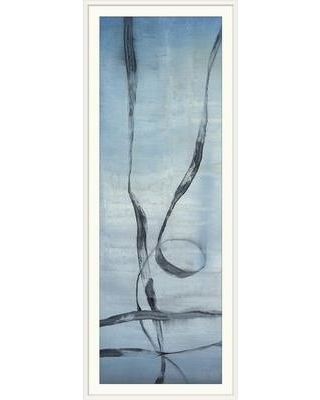 "Great Big Canvas 'Whale Songs I' Jennifer Goldberger Painting Print 1395507_1_ Format: White Framed Size: 44"" H x 20"" W x 1"" D"