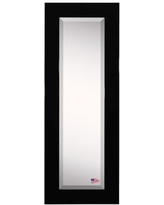"""Darby Home Co Rectangle Body Mirror DRBC5425 Size: 59.5"""" H X 20.5"""" W, Frame Color: Black"""