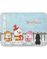 The Holiday Aisle Merry Christmas Carolers Poodle Memory Foam Bath Rug THLA5325 Color: Black